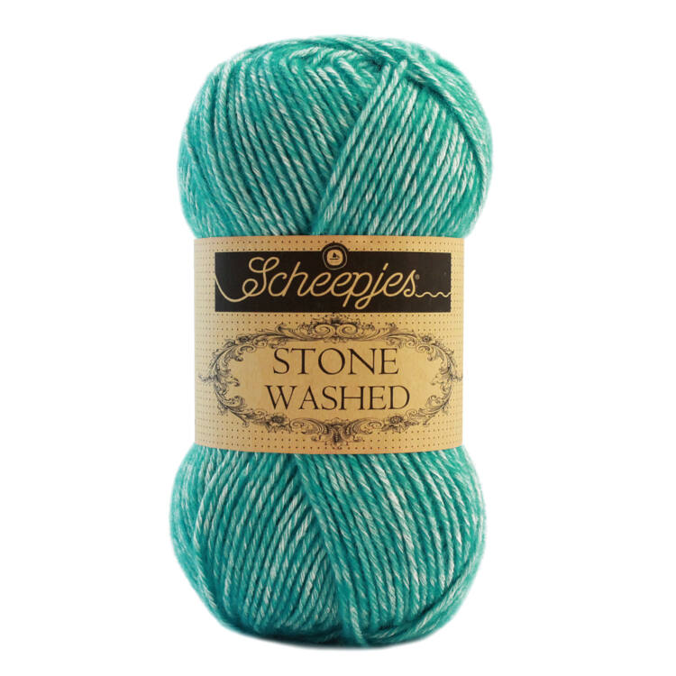 Scheepjes Stone Washed 815 Green Agate - pamut fonal - cotton yarn