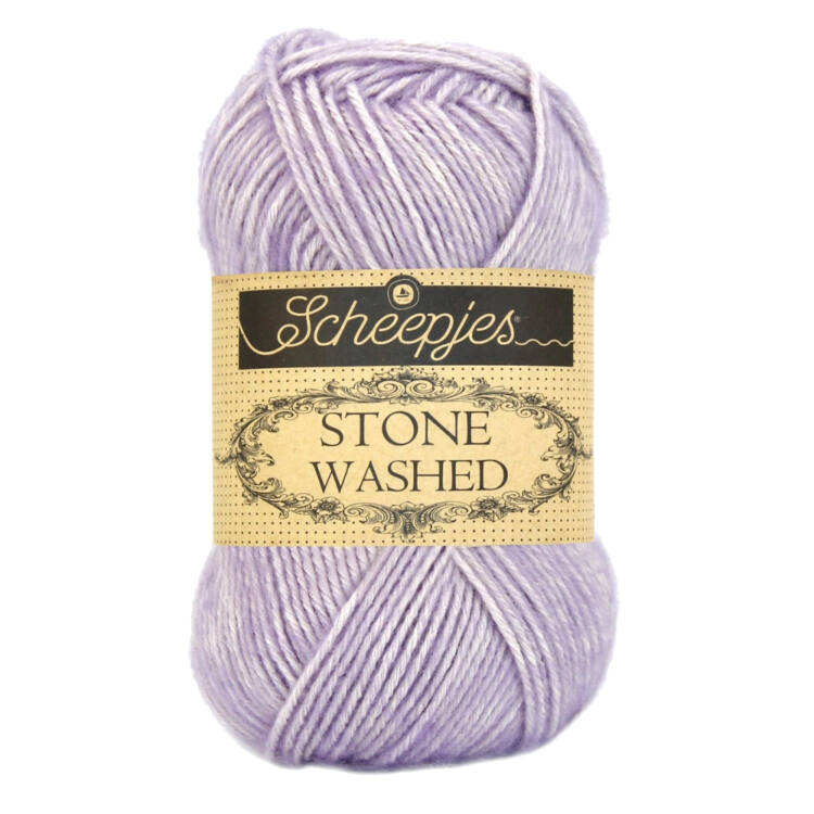 Scheepjes Stone Washed 818 Lilac Quartz - lila pamut fonal - purple cotton yarn