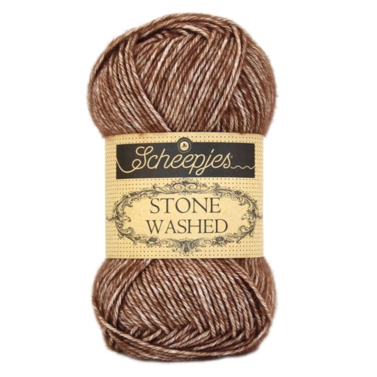 Scheepjes Stone Washed 822 Brown Agate - pamut fonal - cotton yarn