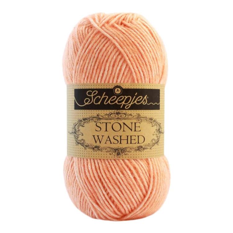 Scheepjes Stone Washed 834 Morganite - barack rózsaszín pamut fonal - peach-pink cotton yarn