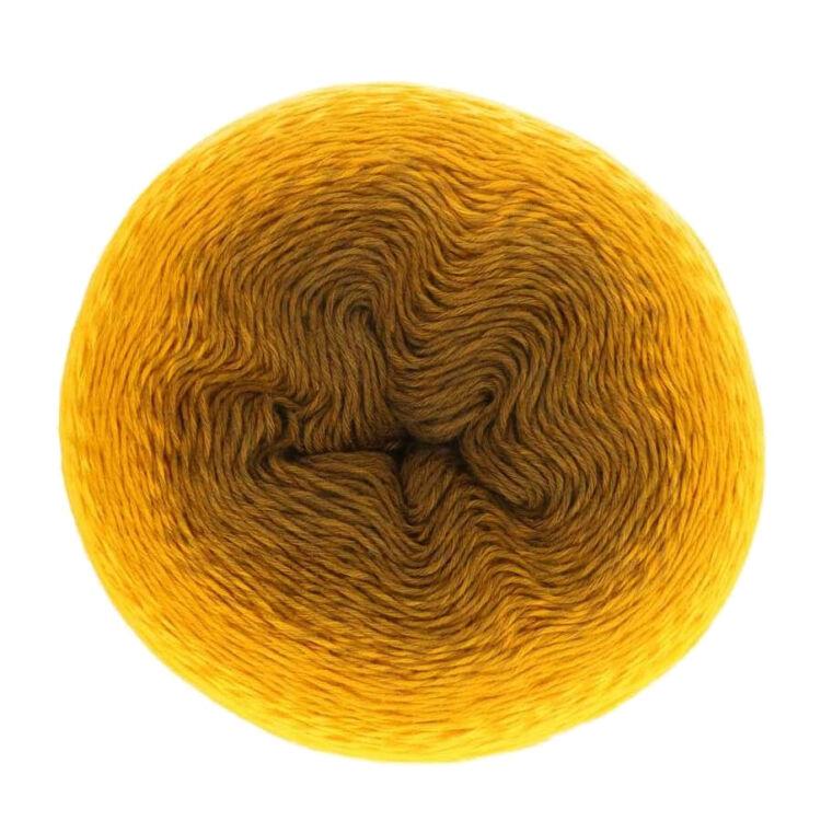 Scheepjes Whirl 564 Golden Glowworm - yellow - aranysárga - keverék fonal - yarn cake