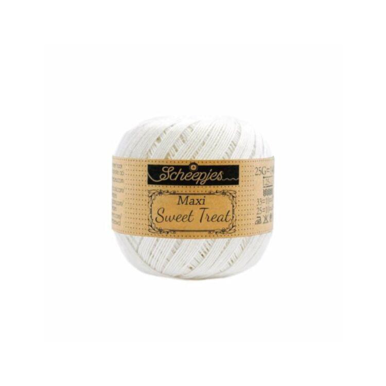 Scheepjes Maxi Sweet Treat Bridal White105 - pamut fonal  - cotton yarn