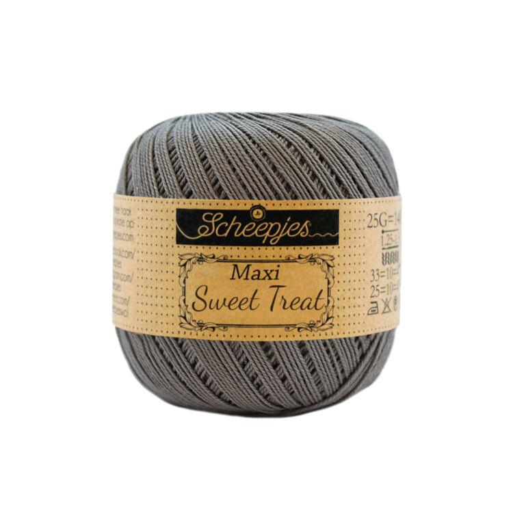 Scheepjes Maxi Sweet Treat 242 Metal Gray - fémes szürke pamut fonal  - gray cotton yarn
