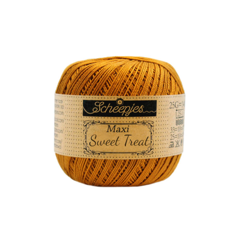 Scheepjes Maxi Sweet Treat 383 Ginger Gold - gyömbér sárga pamut fonal  - yellow cotton yarn