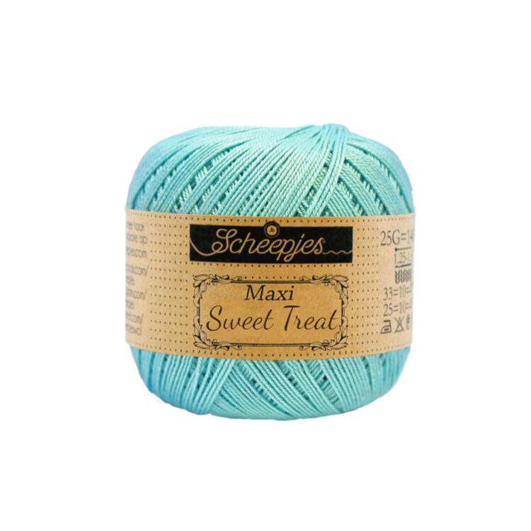 Scheepjes Maxi Sweet Treat 397 Cyan - ciánkék pamut fonal  - blue cotton yarn