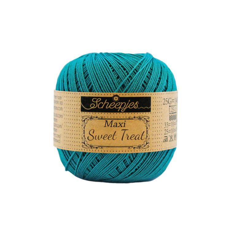 Scheepjes Maxi Sweet Treat 401 Dark Teal - sötét türkiz pamut fonal  - dark cyan cotton yarn