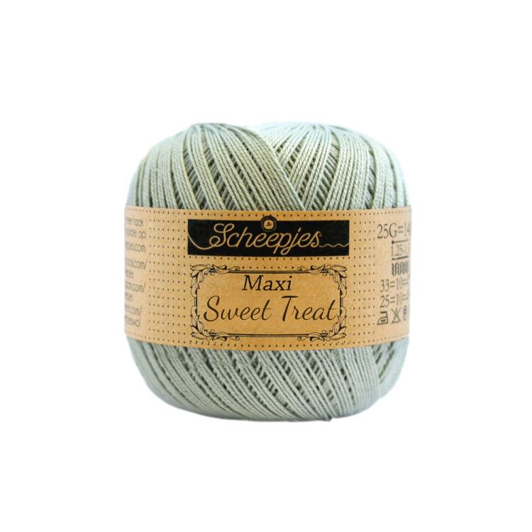 Scheepjes Maxi Sweet Treat 402 Silver Green - ezüstszürke pamut fonal  - cotton yarn