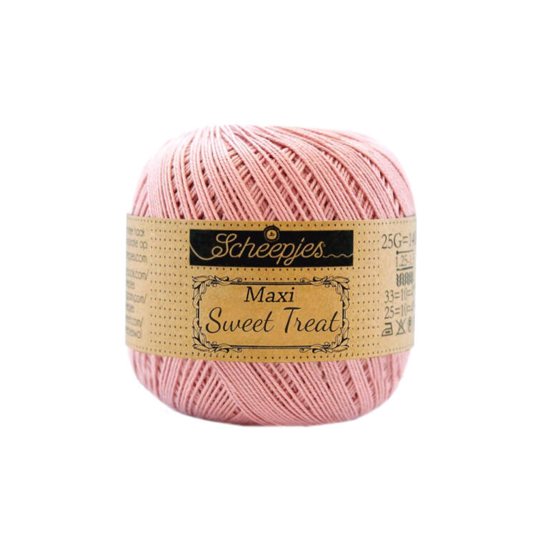 Scheepjes Maxi Sweet Treat 408 Old Rose - pamut fonal  - cotton yarn