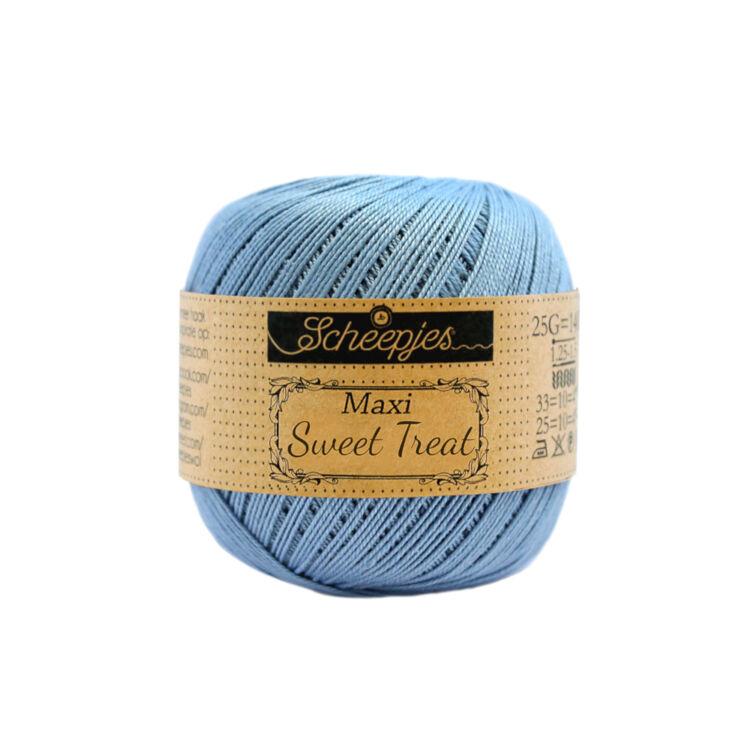 Scheepjes Maxi Sweet Treat 510 Sky Blue - világoskék pamut fonal  - cotton yarn