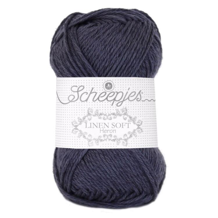 Scheepjes Linen Soft 617 - dark grey - sötétszürke - len keverék fonal - yarn blend