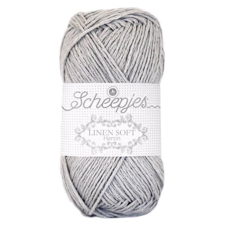 Scheepjes Linen Soft 618 Gray - len keverék fonal - yarn blend