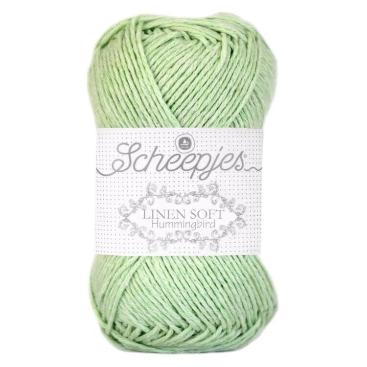 Scheepjes Linen Soft 622 - apple-green - almazöld - len keverék fonal - yarn blend