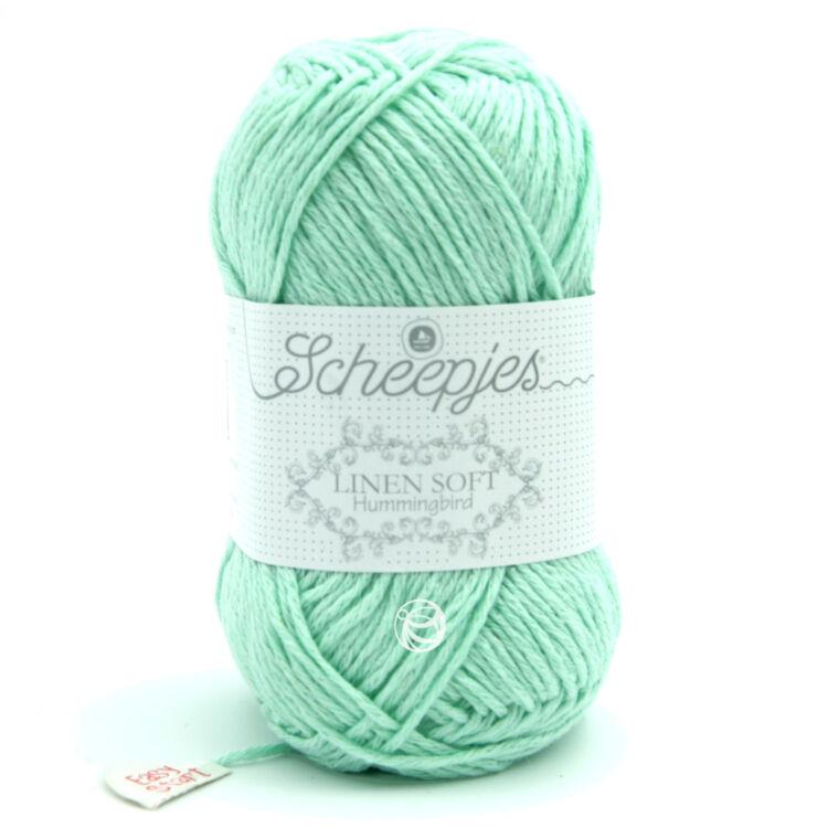 Scheepjes Linen Soft 623 - turquoise - türkiz - len keverék fonal - yarn blend