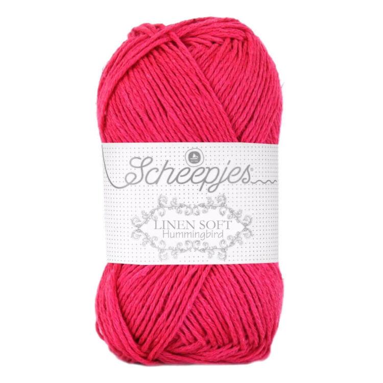 Scheepjes Linen Soft 626 - red - piros - len keverék fonal - yarn blend