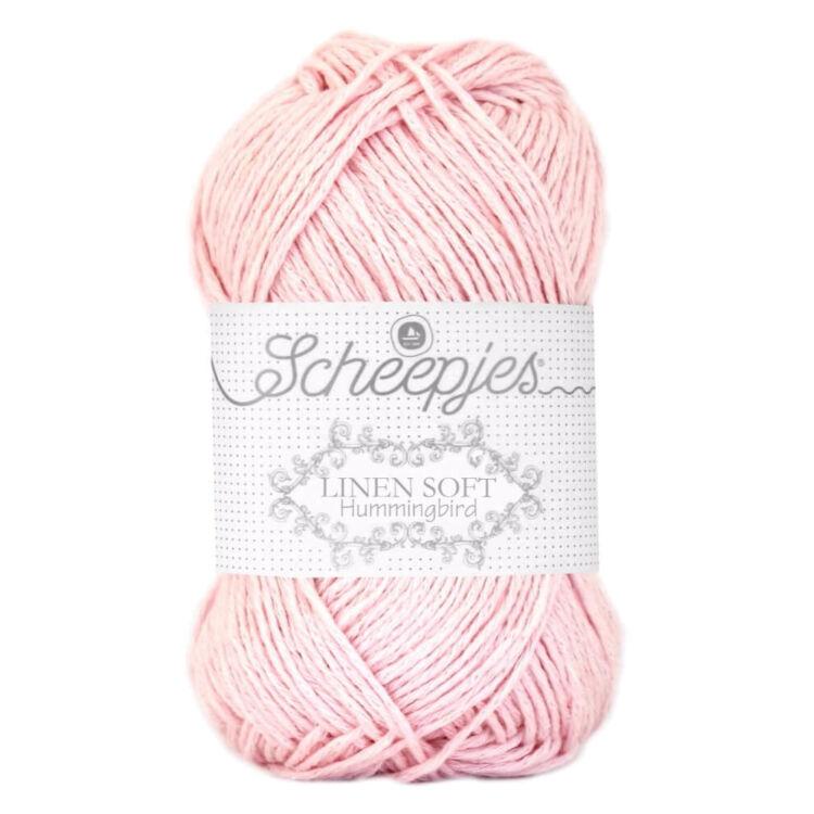 Scheepjes Linen Soft 628 soft rose - rózsaszin - len keverék fonal - yarn blend
