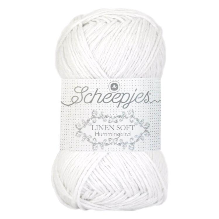 Scheepjes Linen Soft 630 White - len keverék fonal - yarn blend