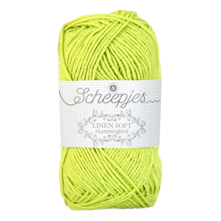 Scheepjes Linen Soft 631 - yellow-green - sárgászöld - len keverék fonal - yarn blend