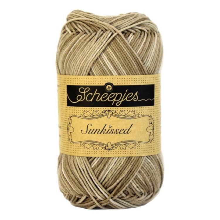 Scheepjes Sunkissed 02 San Dunes - brown - drapp pamut fonal  - cotton yarn