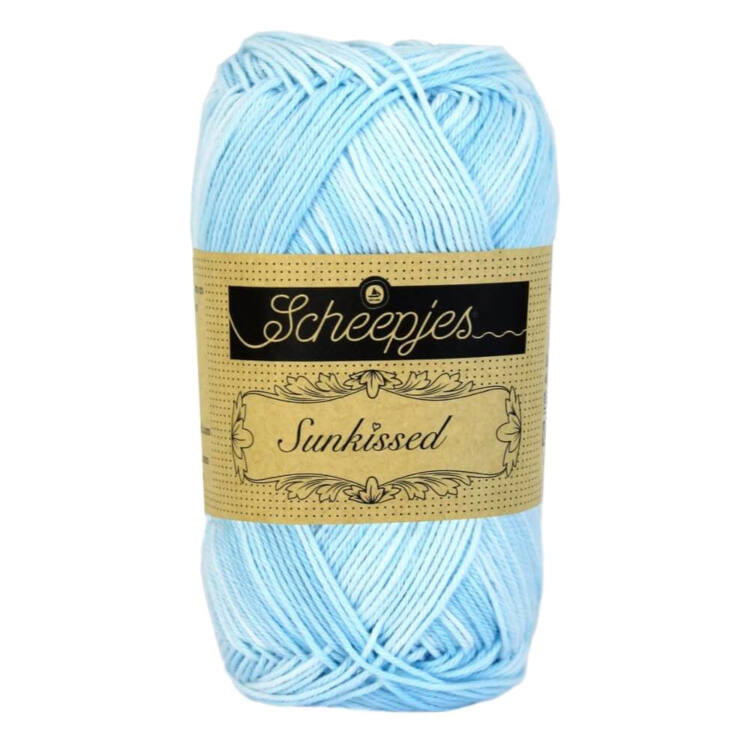Scheepjes Sunkissed 03 Breeeze - blue - kék pamut fonal  - cotton yarn