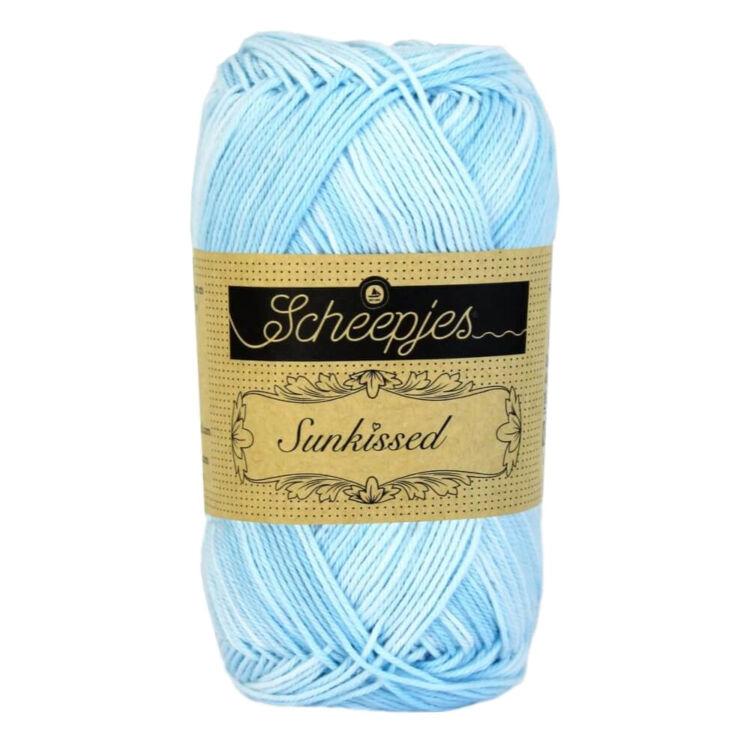 Scheepjes Sunkissed 03 Breeeze - blue - kék pamut fonal  - cotton yarn