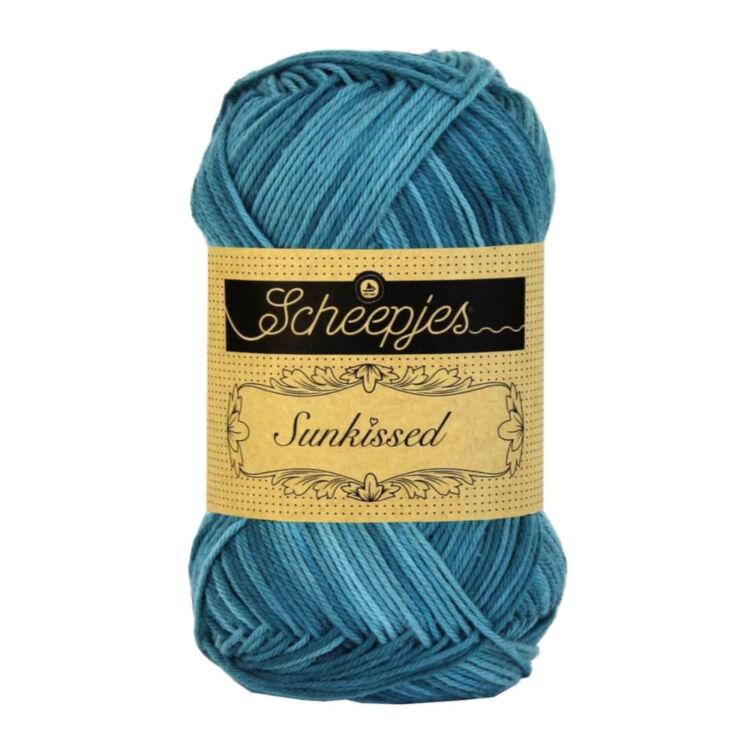 Scheepjes Sunkissed 05 Seaside - blue - kék pamut fonal  - cotton yarn