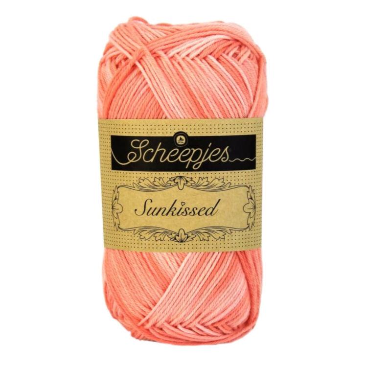 Scheepjes Sunkissed 11 Peach Ice - turquoise - türkiz kék pamut fonal  - cotton yarn