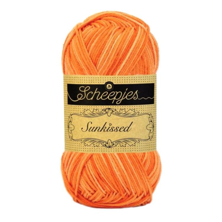 Scheepjes Sunkissed 12 Beach Hut Orange - yellow - narancssárga pamut fonal  - cotton yarn