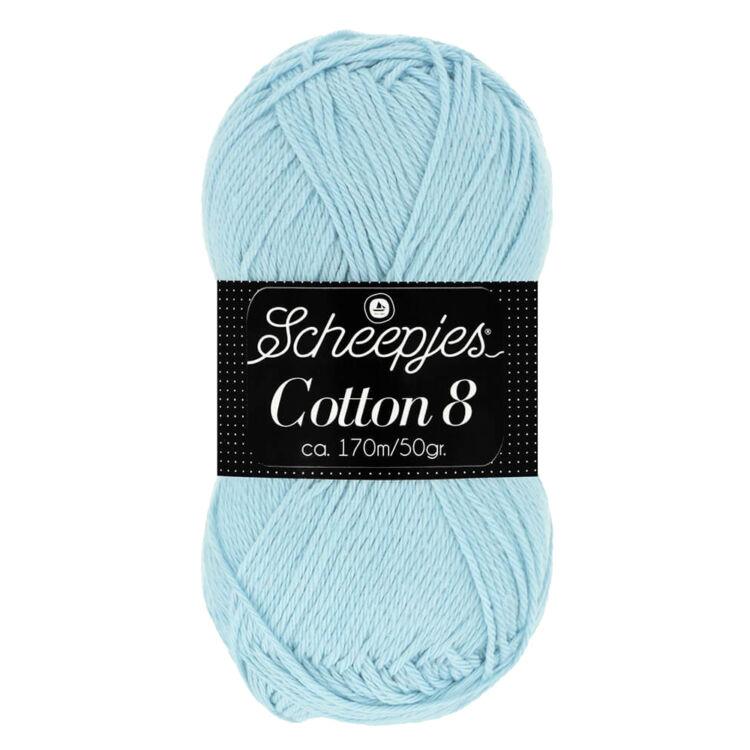 Scheepjes Cotton8 652 light blue - halvány kék pamut fonal  - cotton yarn