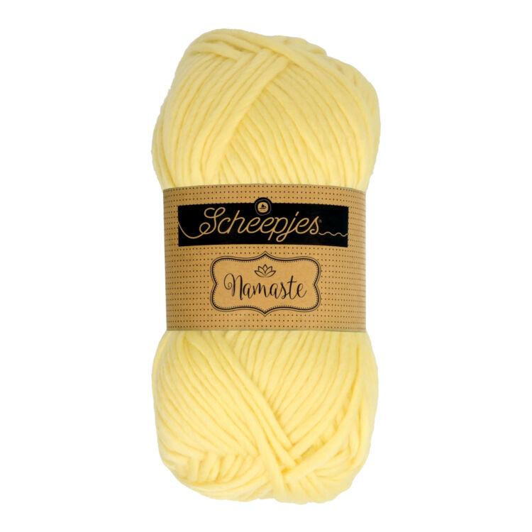 Scheepjes Namaste 600 Sphinx - halvány sárga gyapjú fonal - light yellow yarn blend
