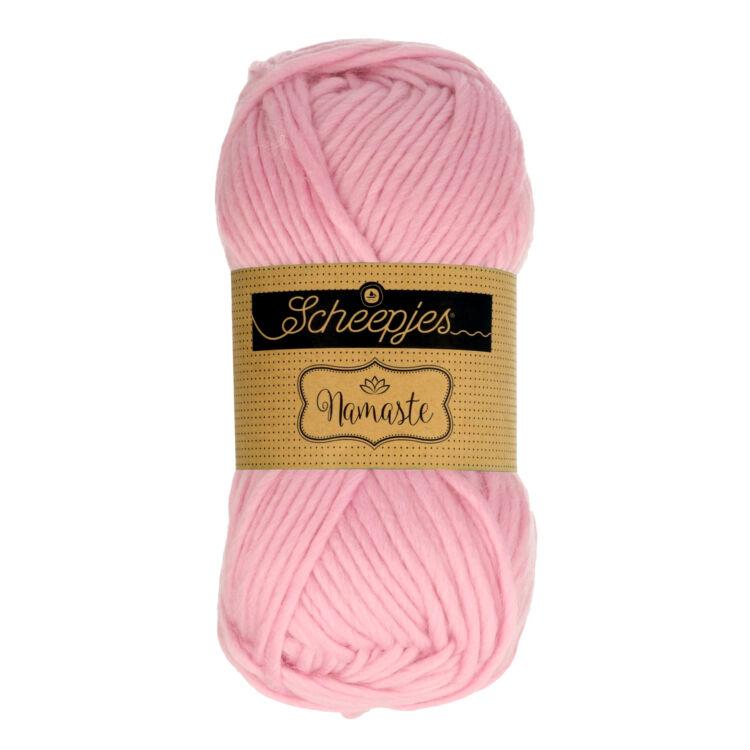 Scheepjes Namaste 612 Garland - halvány rózsaszín gyapjú fonal - light pink yarn blend