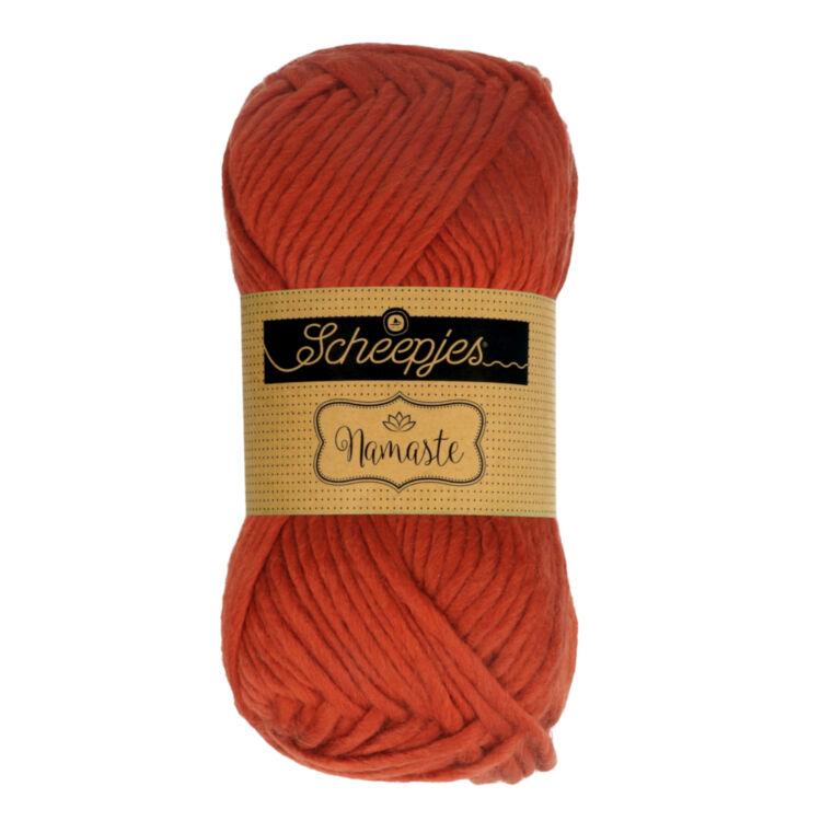 Scheepjes Namaste 618 Gate - narancs-vörös gyapjú fonal - orange-red yarn blend