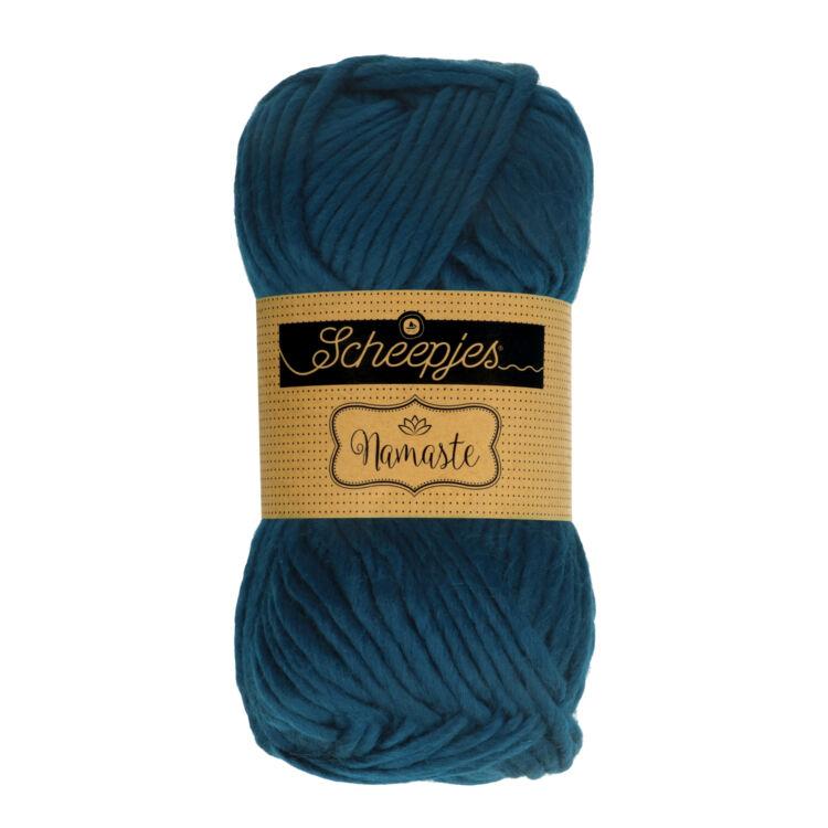 Scheepjes Namaste 626 Staff - sötétkék gyapjú fonal - dark blue yarn blend