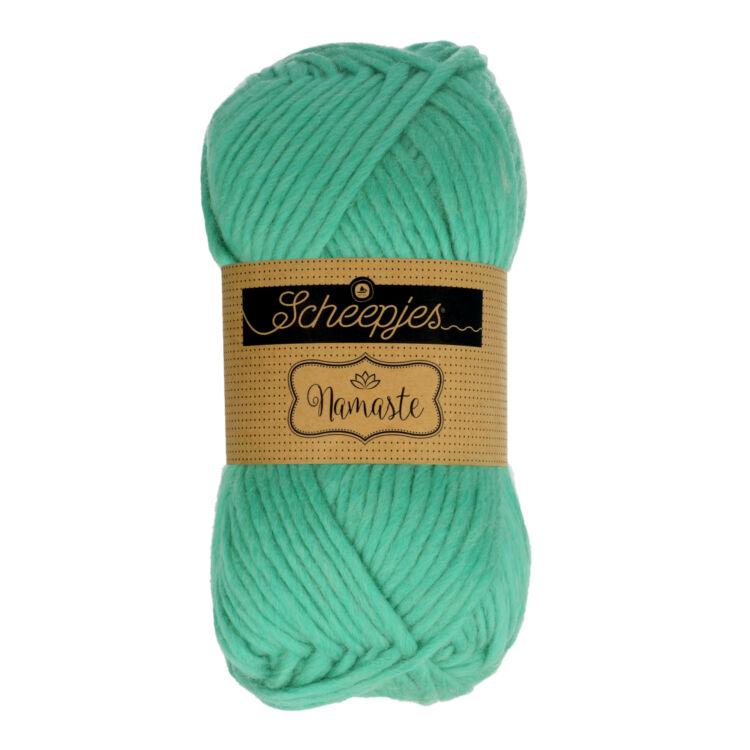 Scheepjes Namaste 630 Upward Salute - jadezöld gyapjú fonal - jade green yarn blend