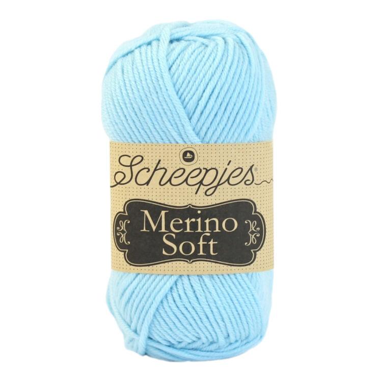 Scheepjes Merino Soft 614 Magritte - világoskék gyapjú fonal - light-blue yarn blend