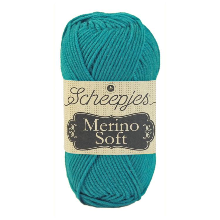 Scheepjes Merino Soft 617 Cézanne - kék gyapjú fonal - blue yarn blend