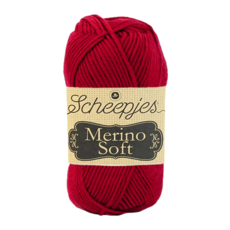 Scheepjes Merino Soft 623 Rothko - vörös gyapjú fonal - red yarn blend