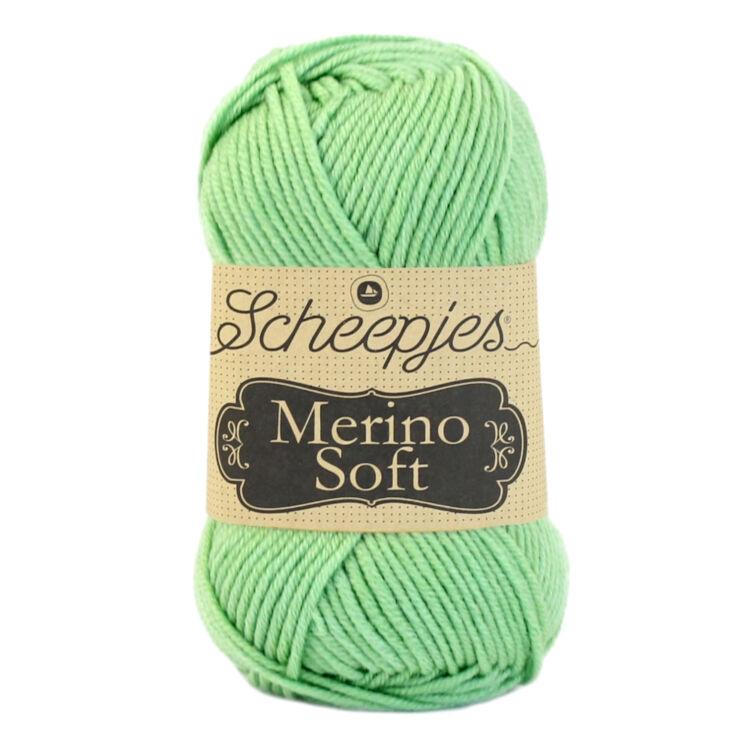 Scheepjes Merino Soft 625 Kandinszky - világoszöld gyapjú fonal - green yarn blend