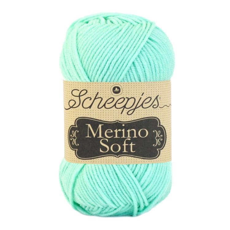 Scheepjes Merino Soft 628 Boticelli - türkiz gyapjú fonal - turquoise yarn blend