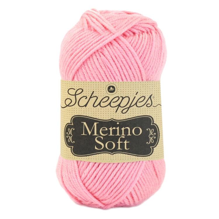 Scheepjes Merino Soft 632 Degas - rózsaszín gyapjú fonal - pink yarn blend