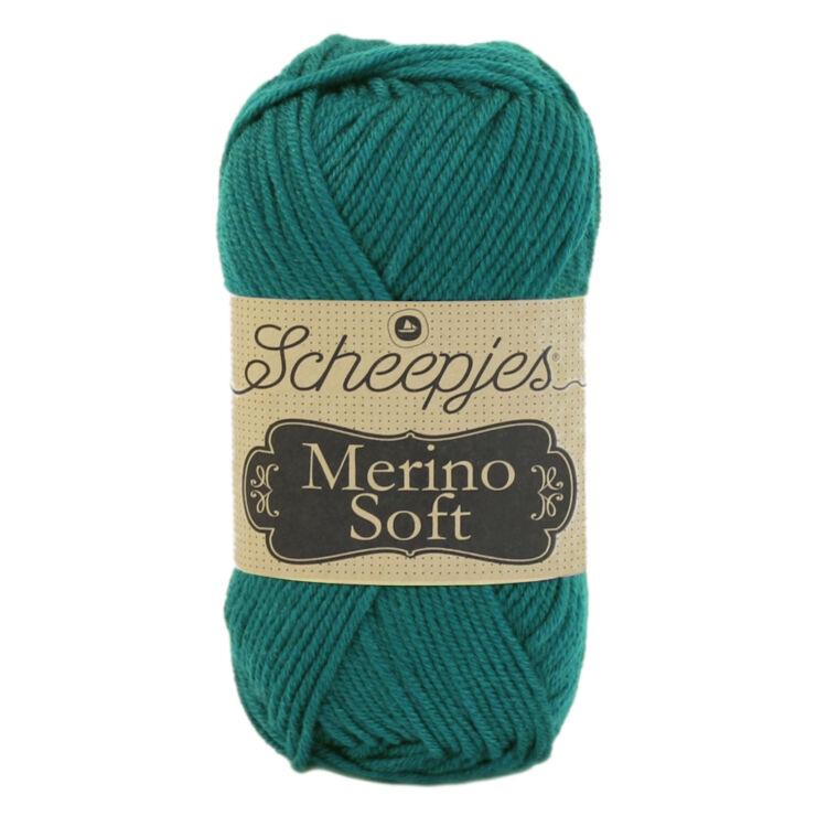 Scheepjes Merino Soft 643 Ansingh - sötét türkiz gyapjú fonal - dark teal yarn blend