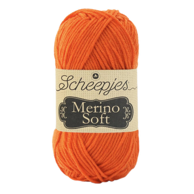 Scheepjes Merino Soft 645 Van Eyk - narancssárga gyapjú fonal - orange yarn blend