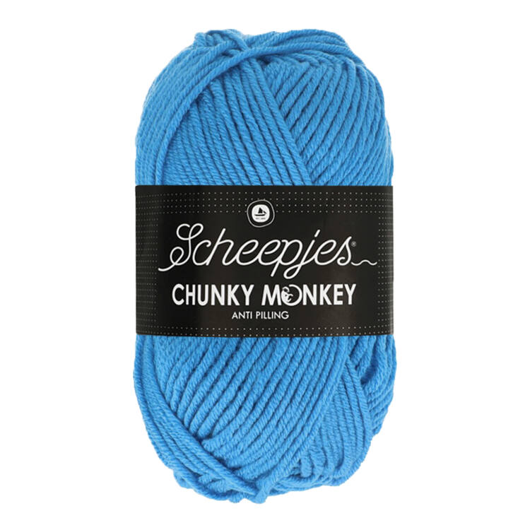 Scheepjes Chunky Monkey 1003 Cornflower Blue - búzavirág-kék akril fonal - acrylic yarn
