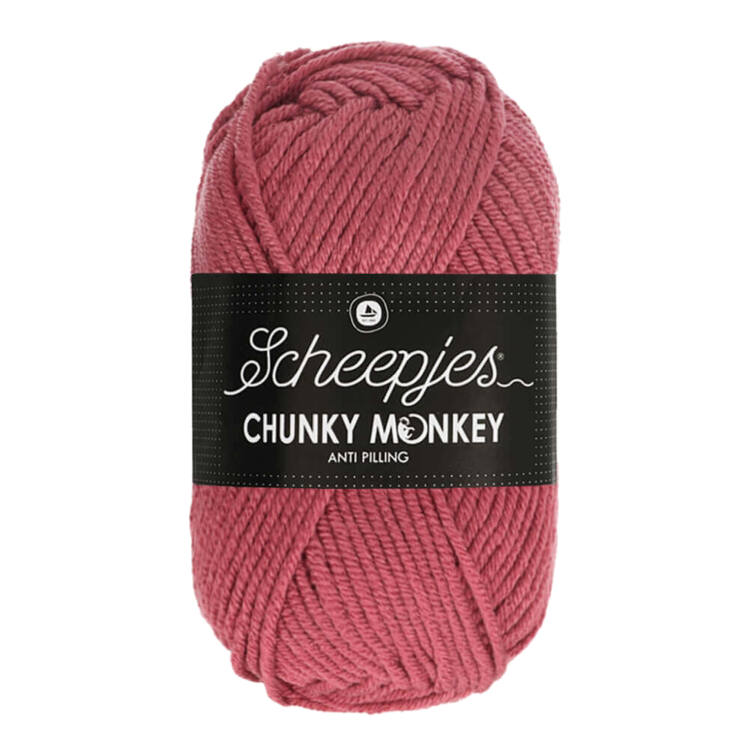 Scheepjes Chunky Monkey 1023 Salmon - lazacrózsaszín akril fonal - salmon pink acrylic yarn