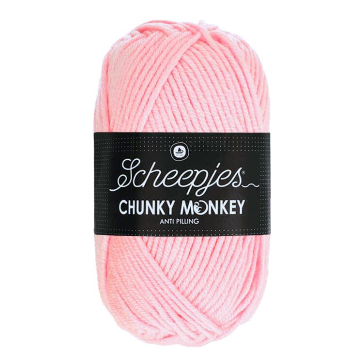 Scheepjes Chunky Monkey 1130 Blush - púderrózsaszín akril fonal - pink acrylic yarn