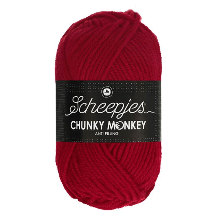 Scheepjes Chunky Monkey 1246 Cardinal - piros akril fonal - red acrylic yarn