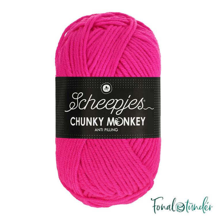 Scheepjes Chunky Monkey 1257 Hot Pink - neon rózsaszín akril fonal - red acrylic yarn
