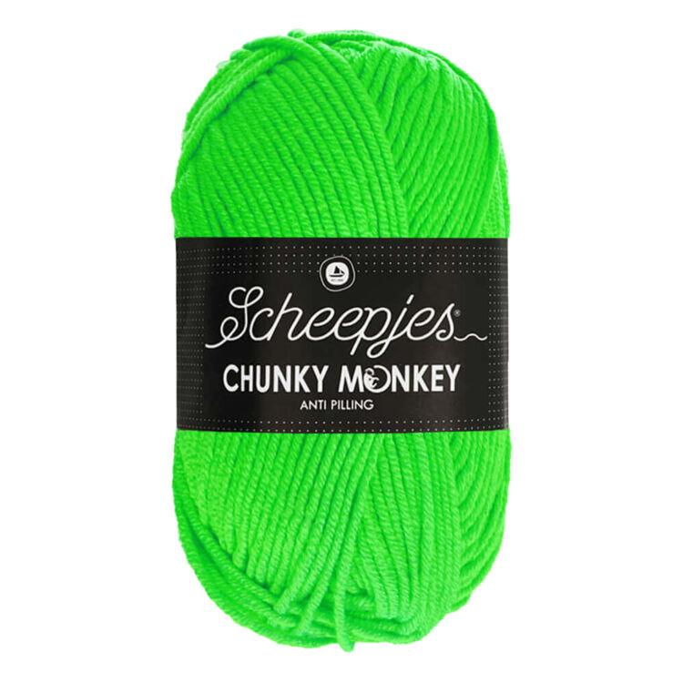 Scheepjes Chunky Monkey 1259 Neon Green - neon-zöld akril fonal - green acrylic yarn