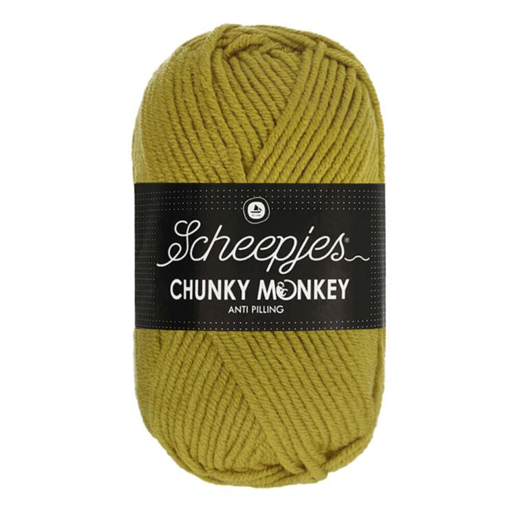 Scheepjes Chunky Monkey 1712 Bumblebee - sárgás-zöld akril fonal - yellowish-green acrylic yarn