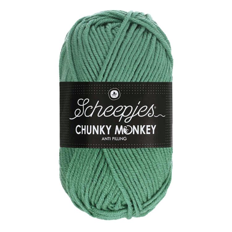 Scheepjes Chunky Monkey 1725 Eucalyptus - szürkés-zöld akril fonal - pale-green acrylic yarn