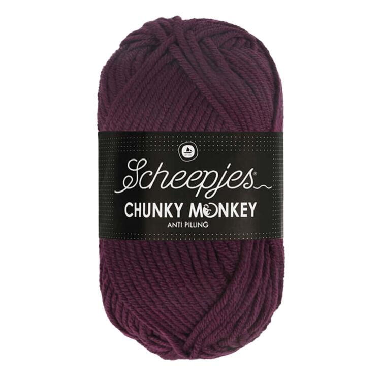 Scheepjes Chunky Monkey 2007 Plum - szilva lila akril fonal - purple acrylic yarn